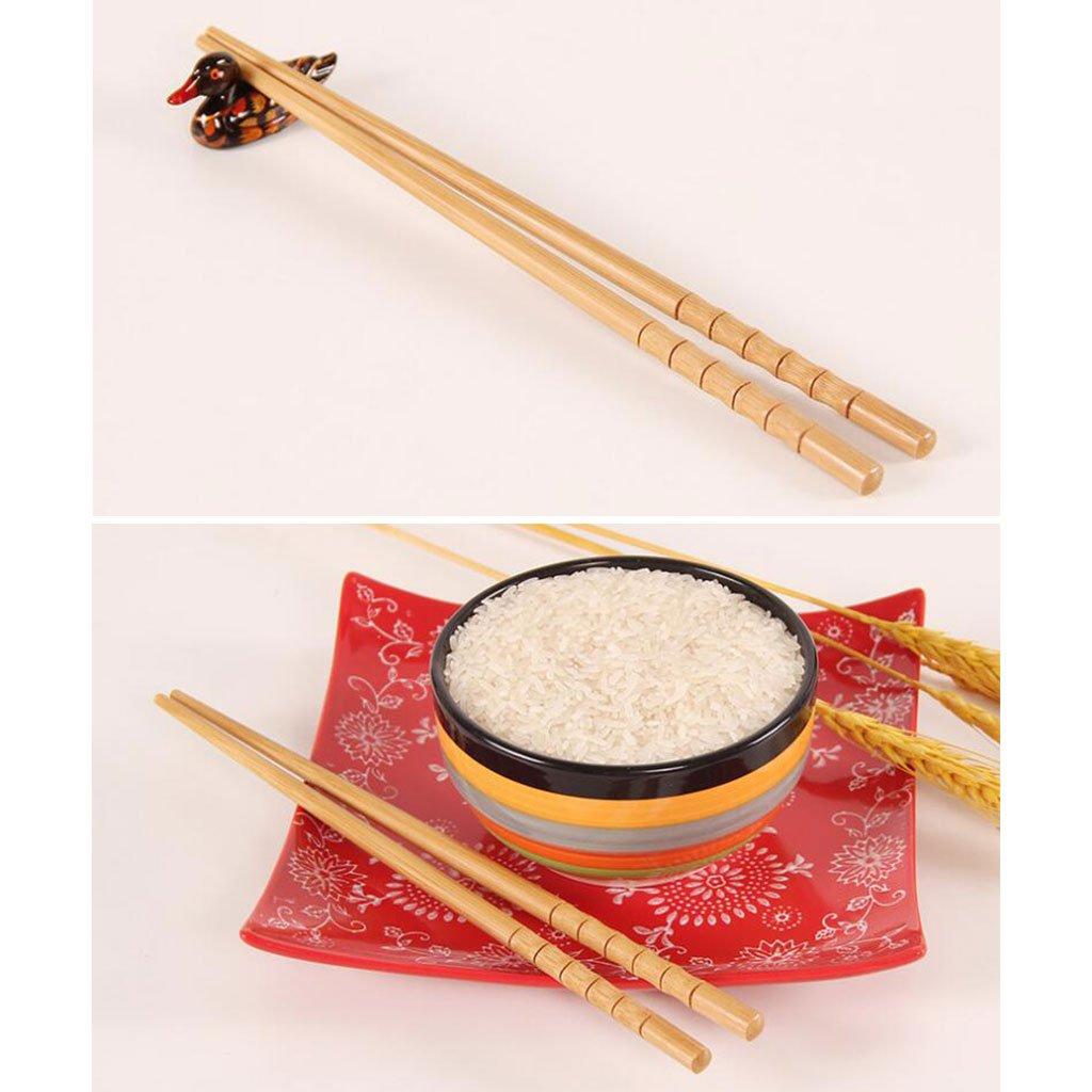 Worth Having Home Hotel Haute Qualit/é Vaisselle 10 Paires Chinois Japonais Restaurant Bambou Bois Set Baguettes Xuan