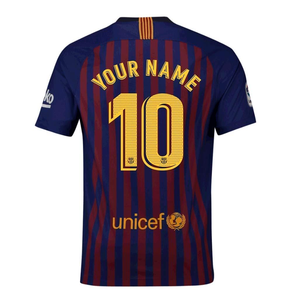 2018-2019 Barcelona Vapor Match Home Nike Football Soccer T-Shirt Jersey (Your Name)