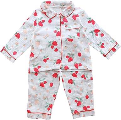 Pijamas de Manga Larga para niños Pijamas de algodón Pijamas de ...