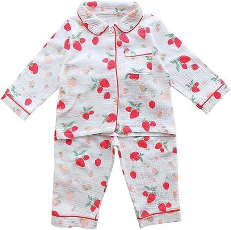Pijamas de Manga Larga para niños Pijamas de algodón Pijamas ...