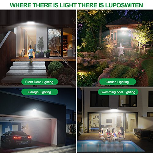 Solar Lights Outdoor 100 LEDs , Motion Sensor Wireless Waterproof Security Light, Solar Lights for Garden, Patio, Yard, Driveway, Garage, Porch , Pathway by Luposwiten [2PACK] by Luposwiten (Image #5)