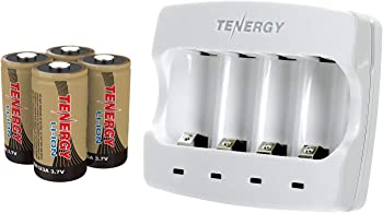 Tenergy 3.7V Arlo Battery Charger with 650mAh Li-ion Rechargeable Batteries