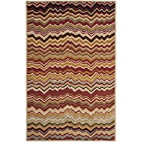 Safavieh Wyndham Collection WYD317B Handmade Red and Multi Wool Area Rug, 3 feet by 5 feet (3 x 5)