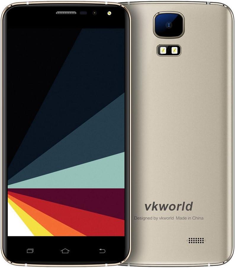 VKworld S3 Smartphone smartphone Barato Android 7.0 Dual SIM 5.5 Pulgadas con Pantalla IPS MT6580A Quad Core 1.3GHz 1GB RAM 8GB ROM Main Camera Sony 8.0MP (SW13.0MP)  + Sub Camera OV