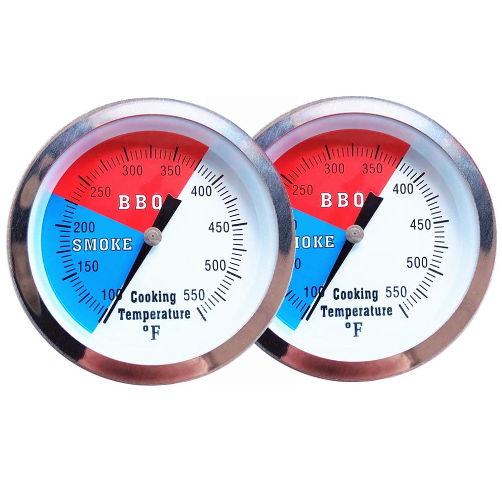 YOTOM BBQ Thermometer Gauge, 2 Pack Charcoal Grill Smoker Temperature Gauge Pit BBQ Grill Thermometer
