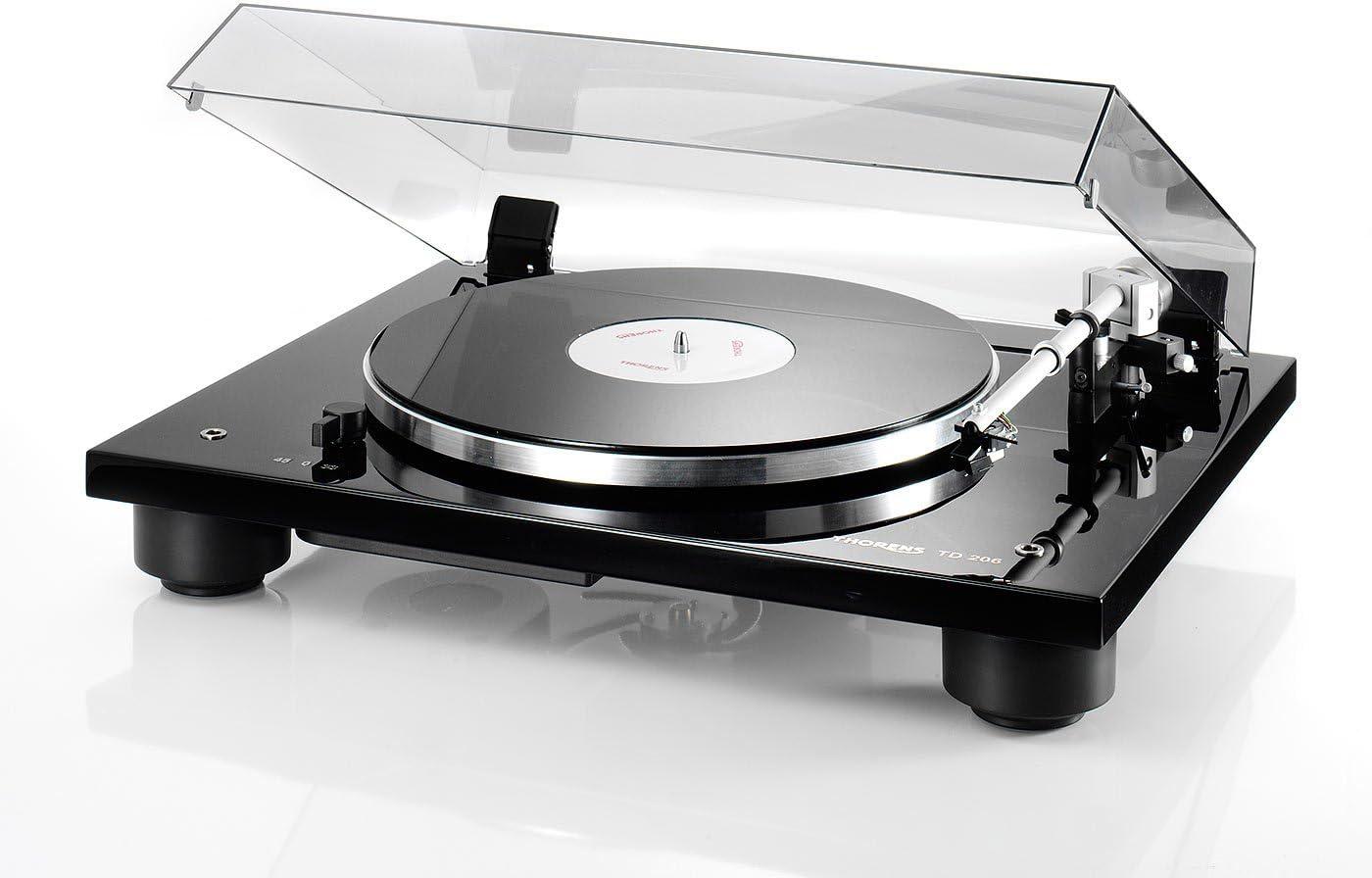 Thorens TD 206 Manual Turntable – 33 or 45 rpm TP90 AT95B High Gloss Black