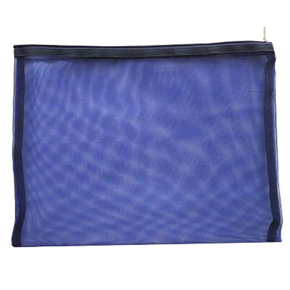 Cute File Bag Stationery Bag Pouch A4 File Envelope for Office/School Supplies, Ink Blue
