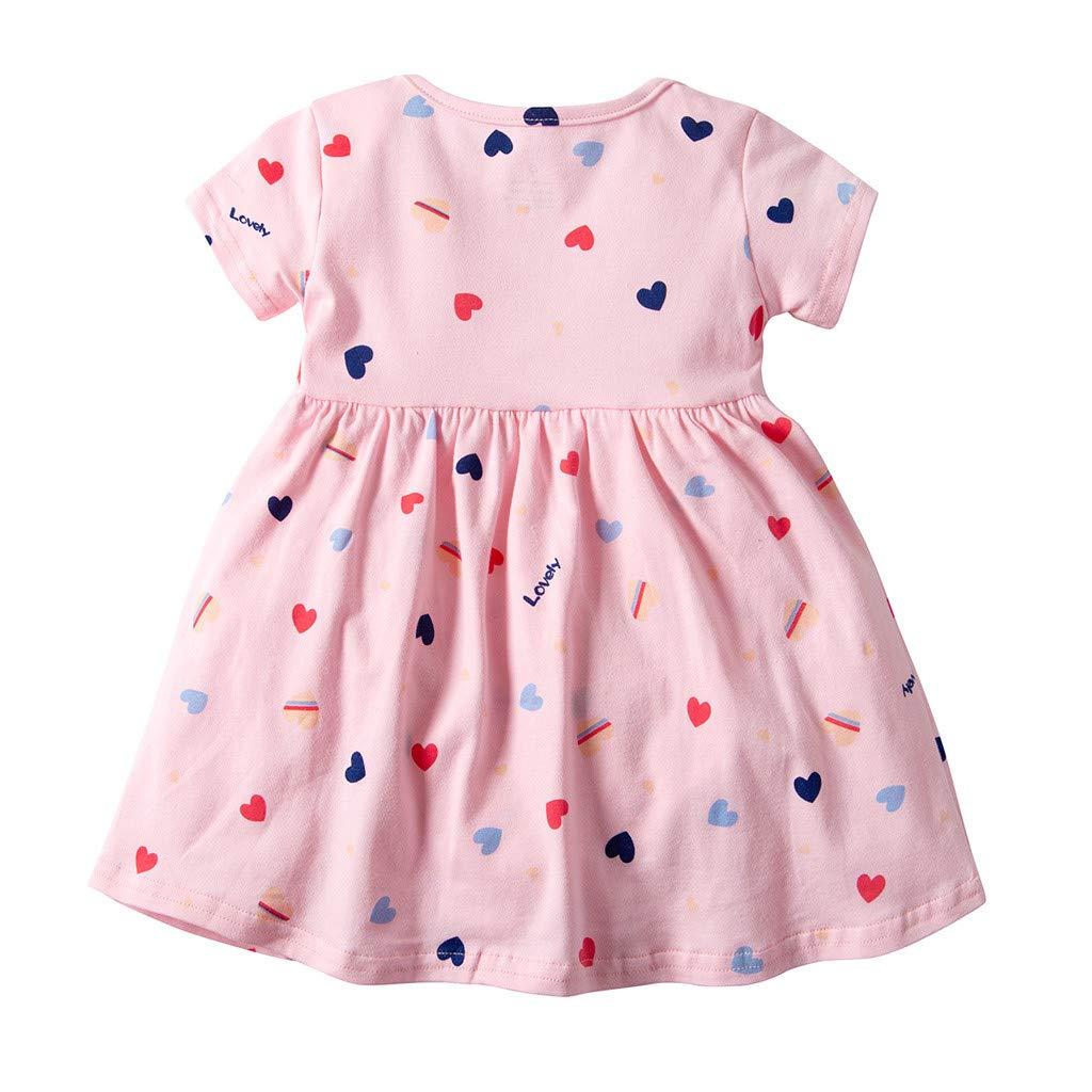 KIMODO Kleinkind Baby M/ädchen Blumen Drucken Romper Sommer Kurzarm Kleid Urlaub Overall Outfit Kleidung