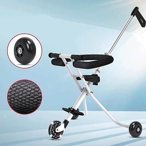 Triciclo para niños de 1 a 3 años Trolley Carrito de bebé de tres ruedas,