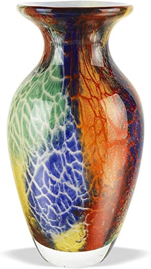 Badash Firestorm Murano-Style Glass Vase Review