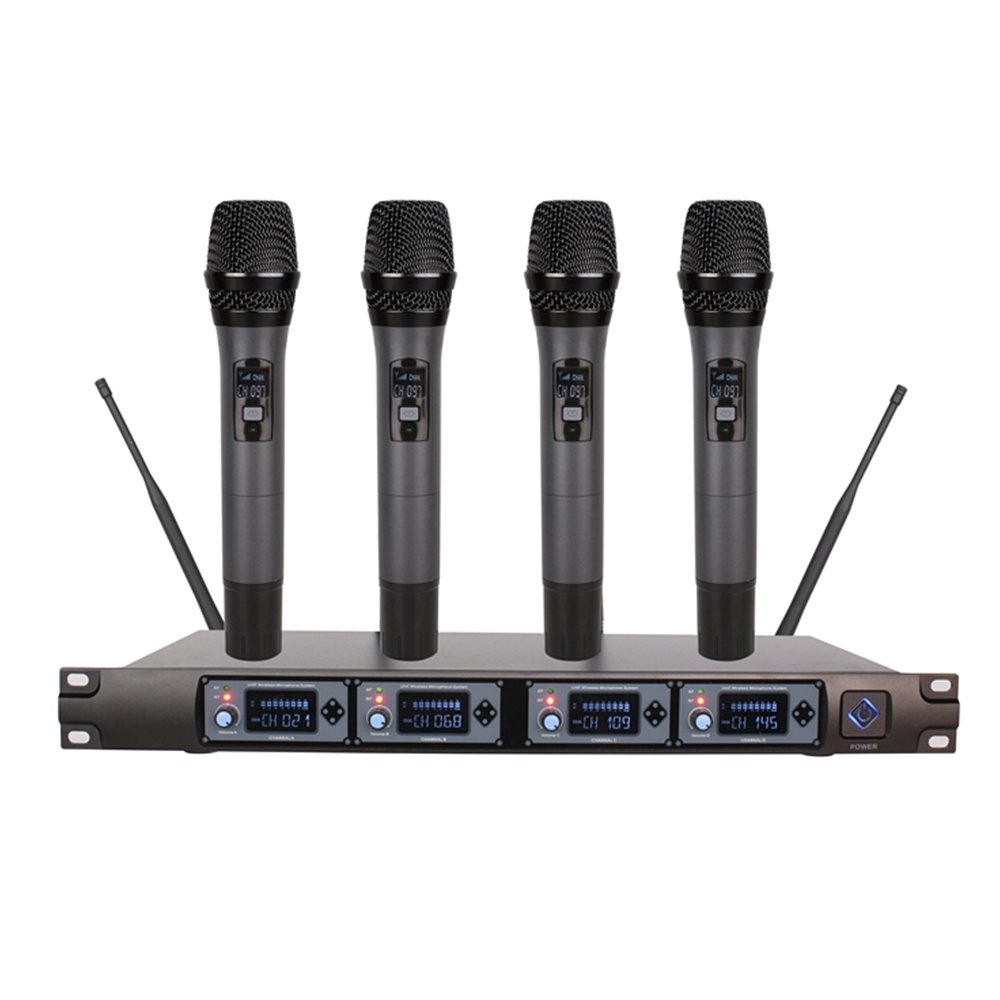 Bemaxy@ Professional 2-Channel UHF Wireless Handheld UHF Microphone System Mini Karaoke Machine Echo Mixer Set Singing Music Equipment with Mic for Smartphone, Tablet, TV Box, Projector (K2)