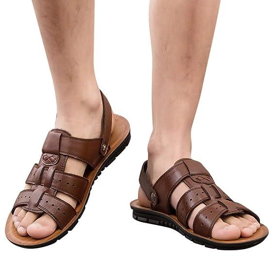 D'été Loisirs Taille Sandales Pour Cuir Alaso Bout Ouvert De Sandale Randonnée Sport Chaussure 38 Homme Marche Liquidation 47 Plage SMUVzp