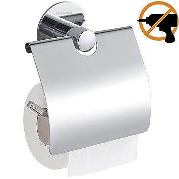 Wangel Toilettenpapierhalter ohne Bohren, Patentierter Kleber + ...