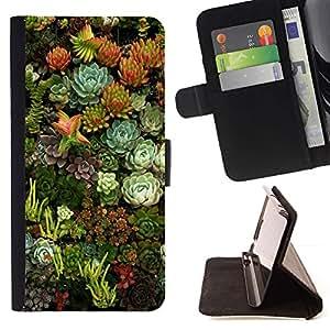 For Sony Xperia Z2 D6502 Case , Flores Naturaleza Floral Green Garden- la tarjeta de Crédito Slots PU Funda de cuero Monedero caso cubierta de piel