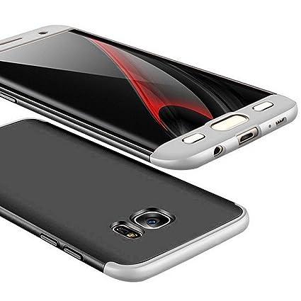 Adamarkeer Funda Galaxy S7 Edge Carcasa Rígida Slim Ultra-Delgado Shockproof Anti-rasguños Estuche Anti-Huella Protective Case Cuerpo Completo Cover ...