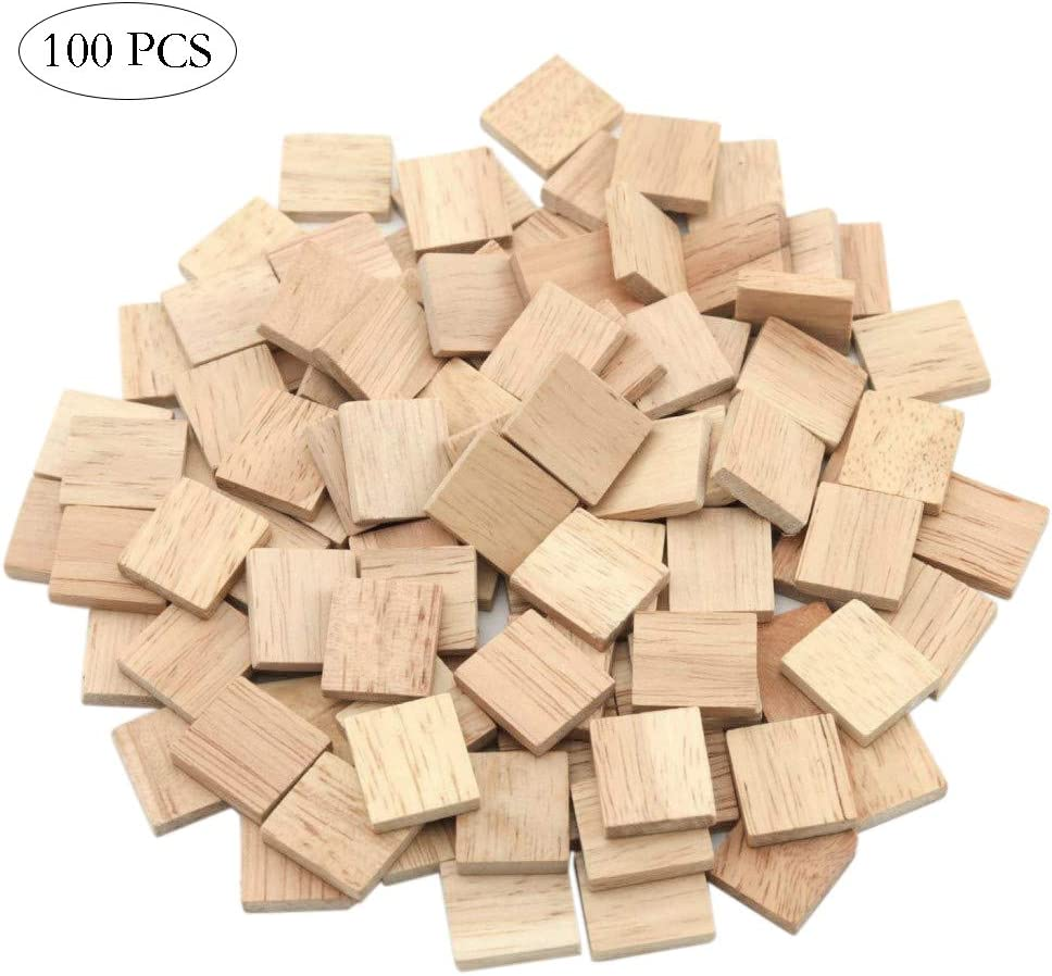 DEOMOR 100 St/ück Holz W/ürfel 20mm Holzw/ürfel Blanko Deko Holz Basteln Bastelmaterial Holz Quadrat W/ürfel Natur Deko zum DIY Basteln Malen DIY Handwerk Dekoration