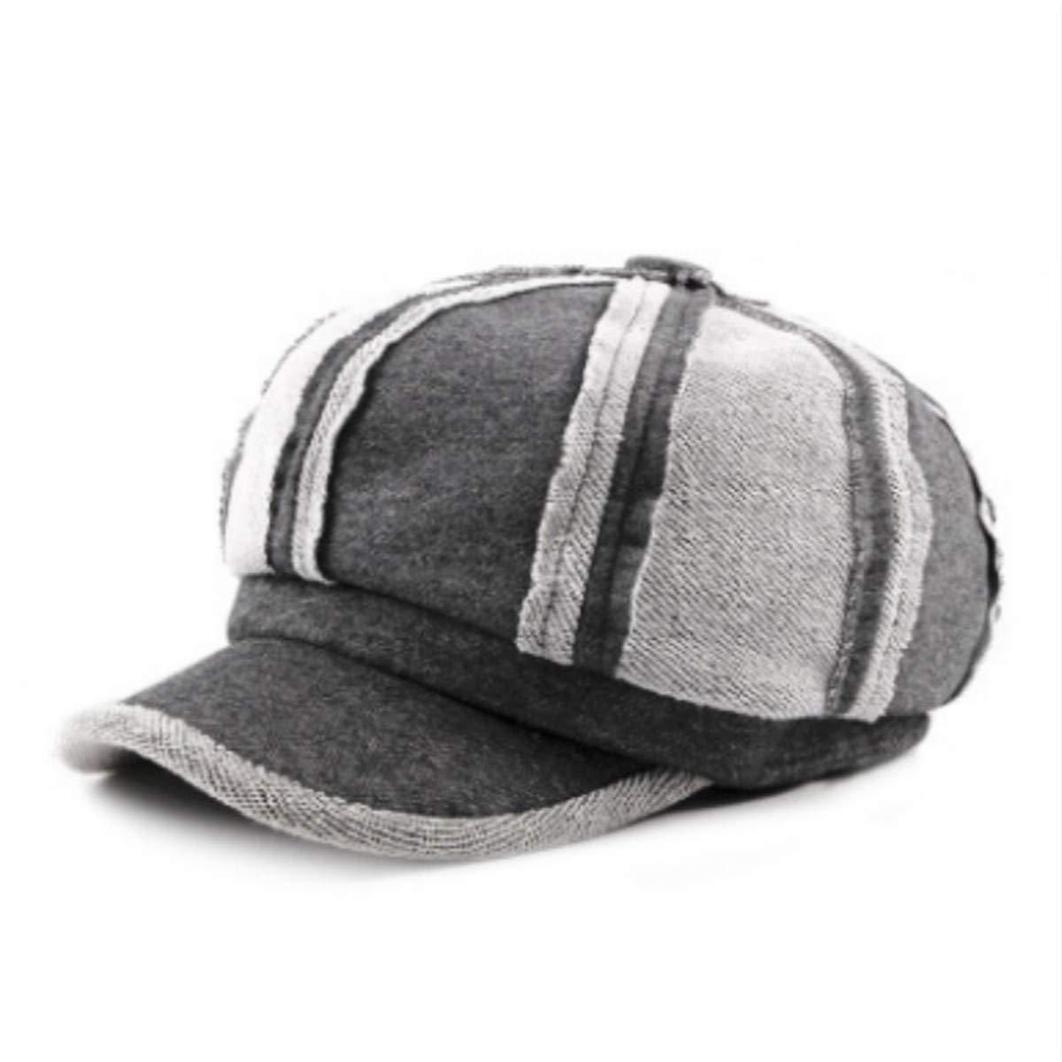 KDFLGE cappello Berretto da Donna in Cotone Patchwork Casual Berretto da  Donna con Cappuccio Ottagonale retrò Inverno Femminile 2e613635e4c6