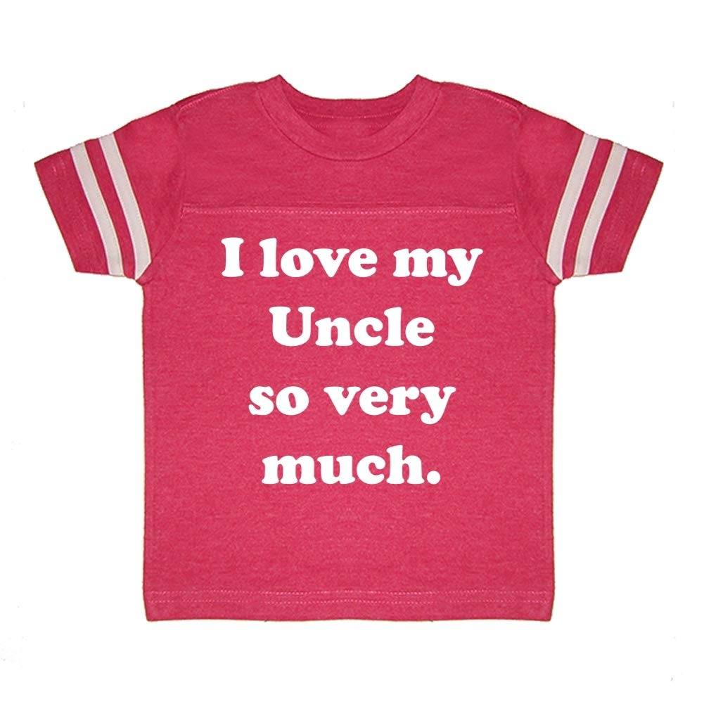 I Love My Uncle So Very Much Toddler//Kids Sporty T-Shirt