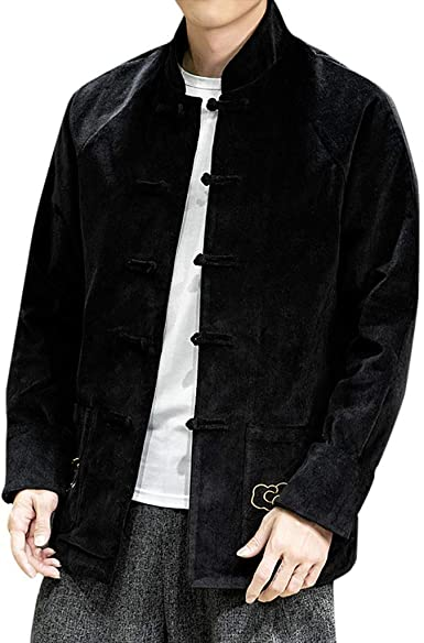 Men/'s Vintage Ethnic Coat Corduroy Jacket Buttons Blazer Overcoat Outerwear Tops