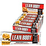 LABRADA, LEAN BODY Protein Bars with Probiotics, Non-GMO, Gluten Free, All Natural Protein Bar Made with Natural Ingredients, Peanut Butter Chocolate Chip, 12 Bars