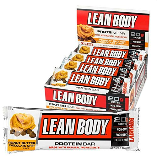 LABRADA, LEAN BODY Protein Bars with Probiotics, Non-GMO, Gluten Free, All Natural Protein Bar Made with Natural Ingredients, Peanut Butter Chocolate Chip, 12 - Nectar Is Of Made What