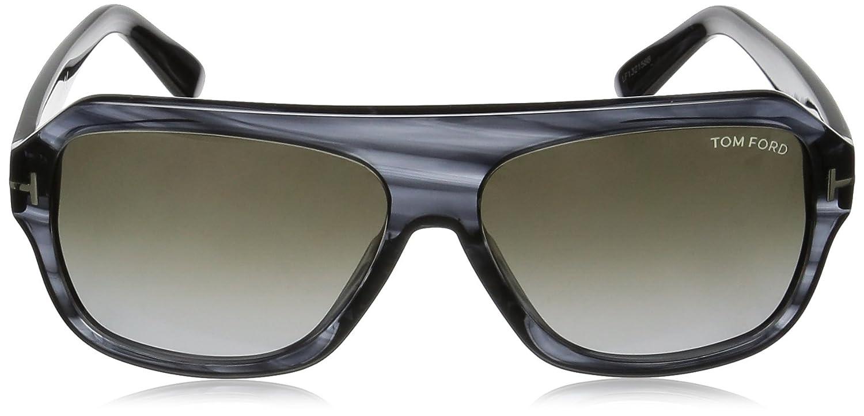 ccc22e5bb4 Occhiali da sole Tom Ford Omar FT0465 C59 20B (grey other   gradient smoke)   Amazon.it  Abbigliamento
