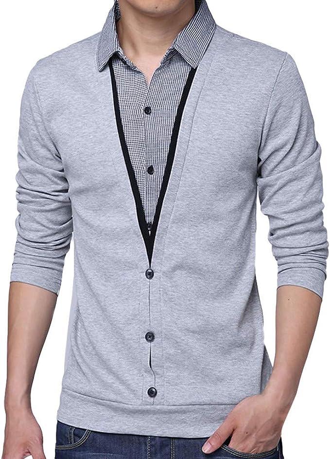Camiseta de Dos Mangas con Falda de Solapa para Hombre Camisa de ...
