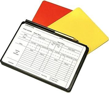 Árbitro de fútbol Tarjeta de lápiz y hojas de registro Nota ...