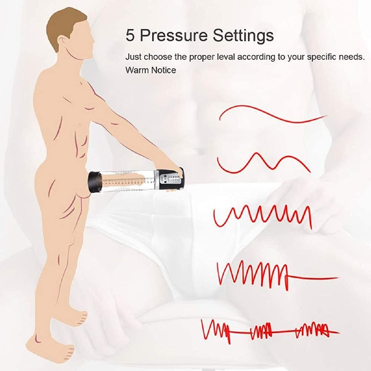 Electric Male High-Pressures P/ênīs Vacuum Pump Hand-held Expand Timing and Growth The Size Strength