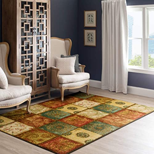 Mohawk Home Free Flow Artifact Panel Patchwork Area Rug