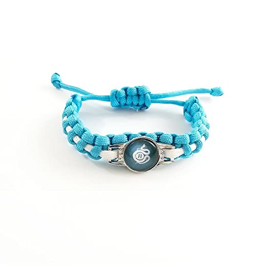 3c24aac727e JARL Destiny - Bracelet - Destiny 2 - Guardian - Hunter - braided bracelet ( Handmade) - Man Woman - Blue and White - Adjustable waist  Amazon.co.uk   Toys   ...