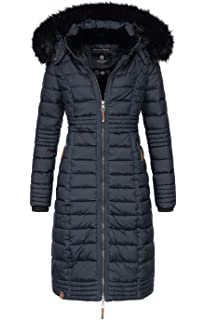 f21e1584e448dd Navahoo Damen Wintermantel Mantel Steppmantel Winter Jacke lang Stepp warm  Teddyfell B670