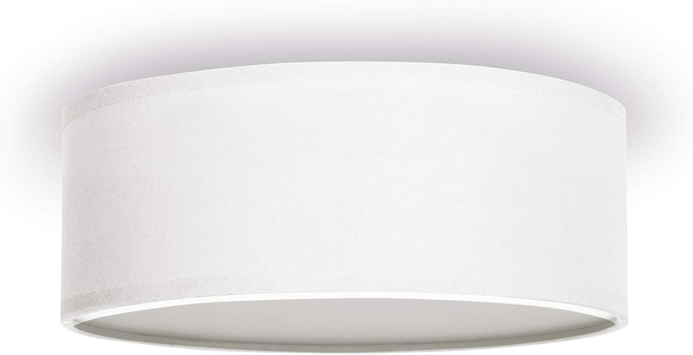 Design Deckenleuchte Deckenlampe Wandlampe Glas Lampe Weiß Retro Kreise Grau ESL