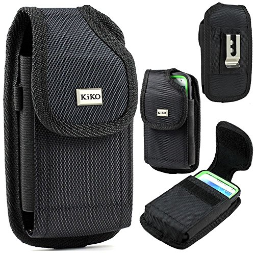 XXL Size Samsung Galaxy S7,S6, S6 Edge, J3,A5 Vertical Nylon Case Pouch Holster with VELCRO Closure with Belt Clip ( the phone with OTTER BOX Defender / LIFEPROOF / Mophie Juice Pack Air/Plus Case On)