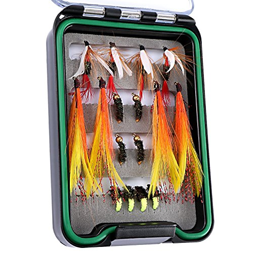 Goture waterproof dry fly fishing flies kit dry wet flies for Fly fishing kits