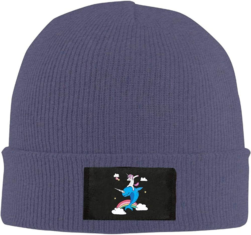 Adult Unisex Funny Magical Dabbing Narwhal Unicorn Casual Beanies