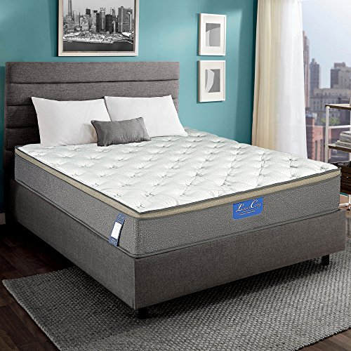 Luxury Innerspring Mattress - 12 Inch Euro Top Medium Soft/Hybrid Gel Memory Foam/825 sets Individual Wrapped Spring with Ergonomic Structure Design [20 Years Warranty] ()