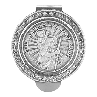 Rosemarie Collections Religious St Christopher Medal Auto Visor Clip: Jewelry