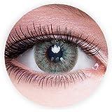 عدسات لاصقة غراي غرين من دهب للجنسين من مجموعة العدسات المكبرة للعين لاستخدام 9 اشهر (لون اخضر رمادي)
