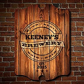 HomeWetBar Personalized Brewery Bar Sign (Custom Product)