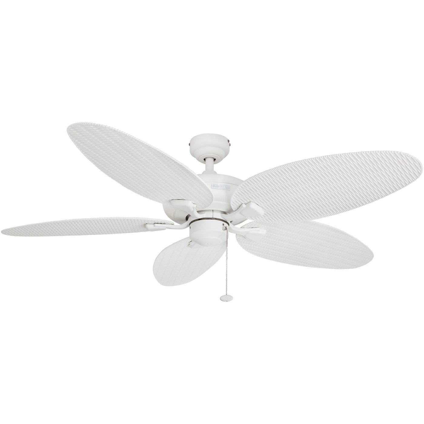 Honeywell Duvall 52-Inch Tropical Ceiling Fan, Five Wet Rated Wicker Blades, Indoor/Outdoor, White 50206