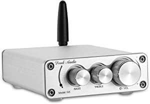 Nobsound G3 2 Channel Bluetooth 5.0 Amplifier , Class D Stereo Audio Amplifier , Mini Home Theater Power Amp , Digital Power Amplifier Receiver , 100W , Treble & Bass Control (Silver)