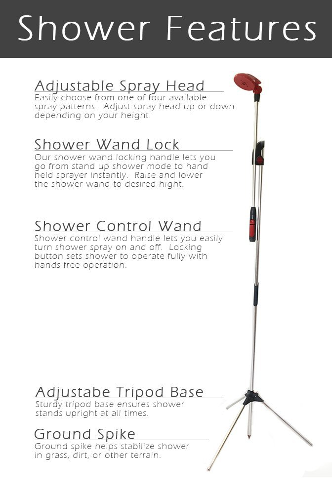 Amazon.com : Telescopic garden shower with tripod. : Garden & Outdoor