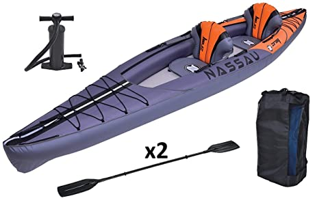 Z Ray Nassau 2 Person Inflatable Kayak Set With Pump