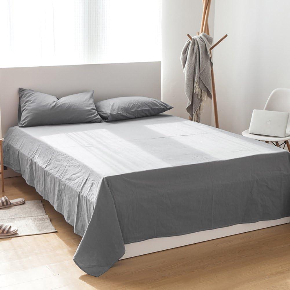 Private home textiles Hojas de algodón de Verano Doble láminas de Color sólido Salud Absorber Sudor Ropa de Cama Transpirable-F 250x245cm(98x96inch): Amazon.es: Hogar