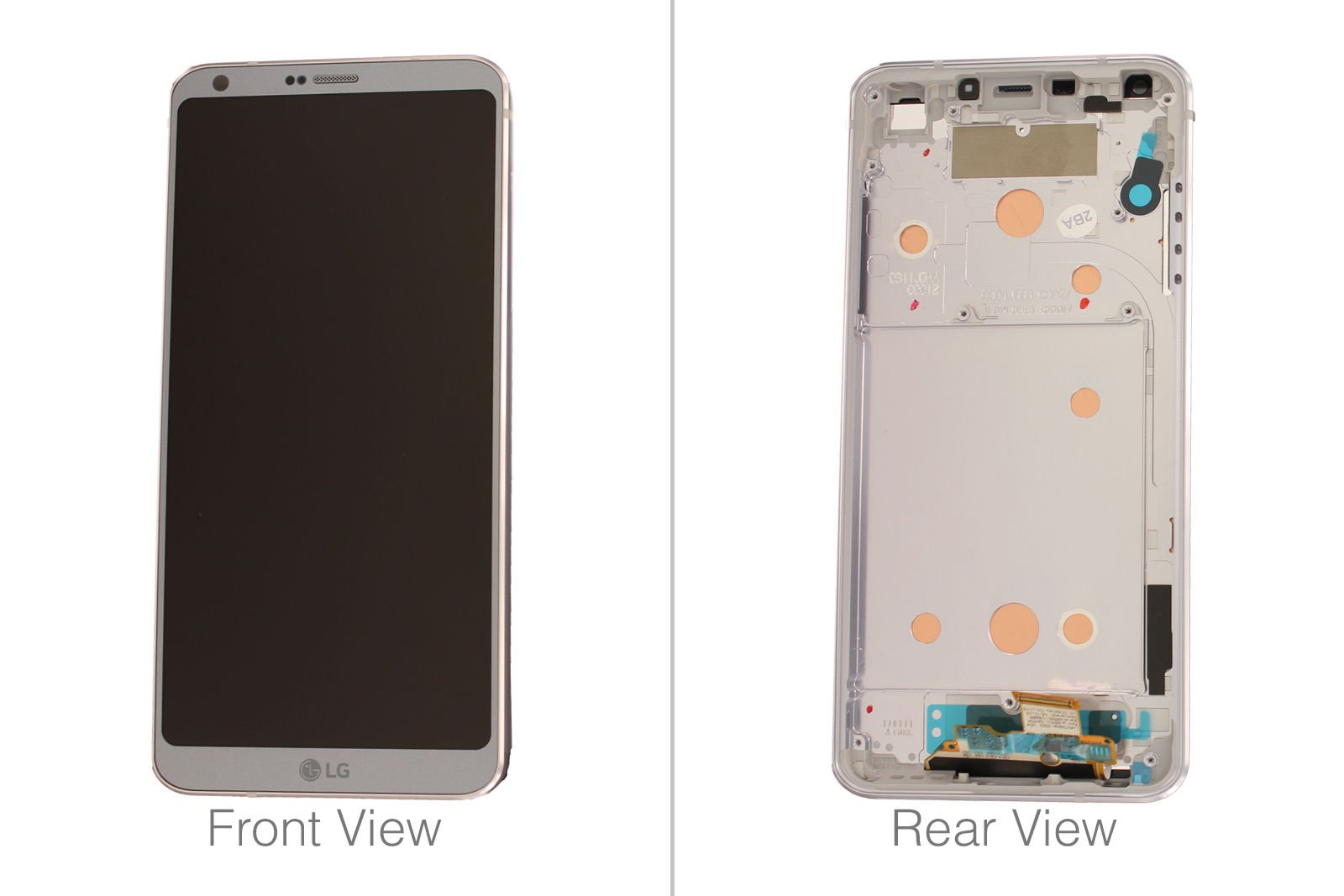 Touch LCD Digitizer Assembly Frame For 5.7'' LG G6 H870 H871 H872 LS993 VS998 White (Only FBA)