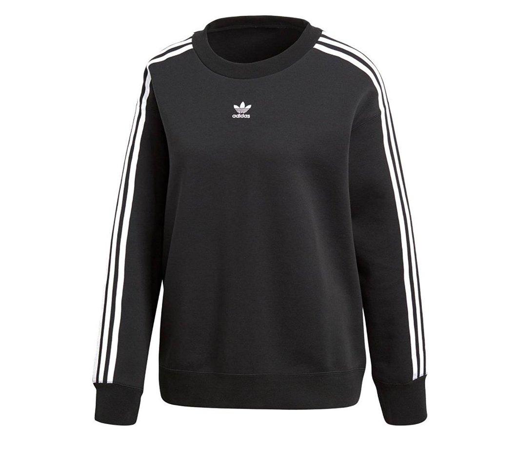 (アディダス)adidas オリジナルス ADIDAS ORIGINALS Crew Sweater アーカイブのサッカーの阻止からインスピレーションを受けた女性用スウェットシャツ [並行輸入品] B0799L1DMG 90(S)|BLACK[CE2431] BLACK[CE2431] 90(S)