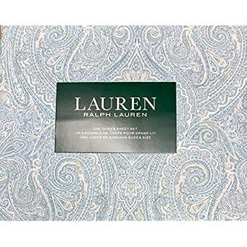 Amazon Com Ralph Lauren 4 Piece Queen Sheet Set Navy