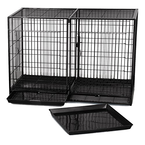 High Modular Dog Kennel (ProSelect Steel Modular Cage, X-Tall, Black)