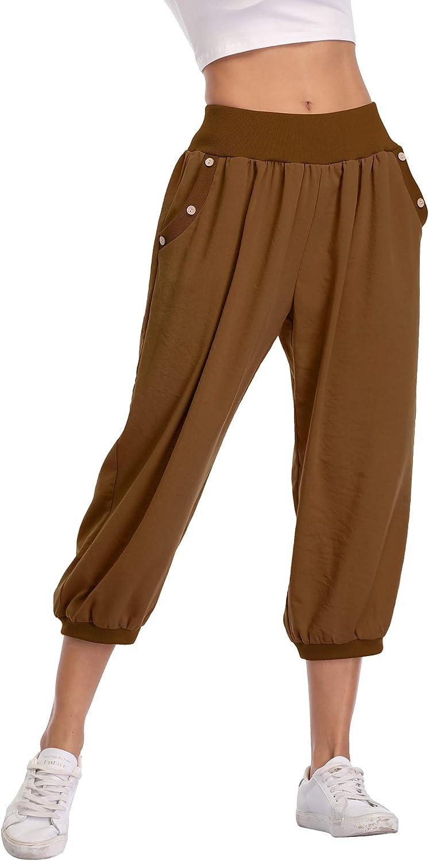 MISS MOLY Pantaloni Larghi Donna Harem Baggy Hip Hop 3//4 Pantaloni Pump Yoga Jogging